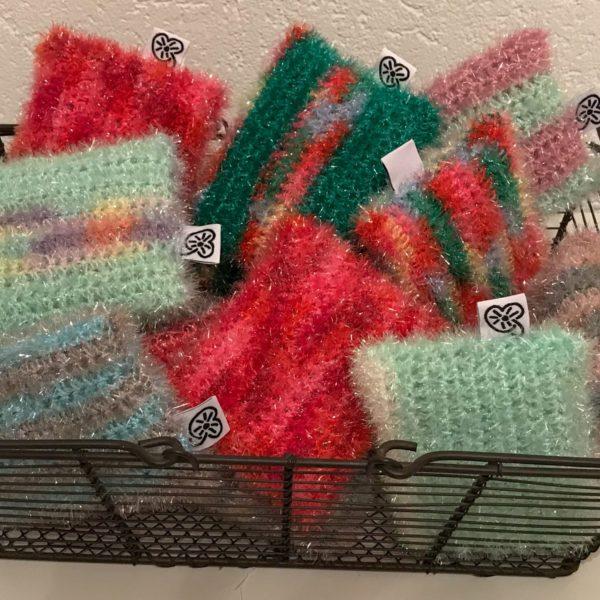 éponge crochet fil vaisselle bienveillancefab