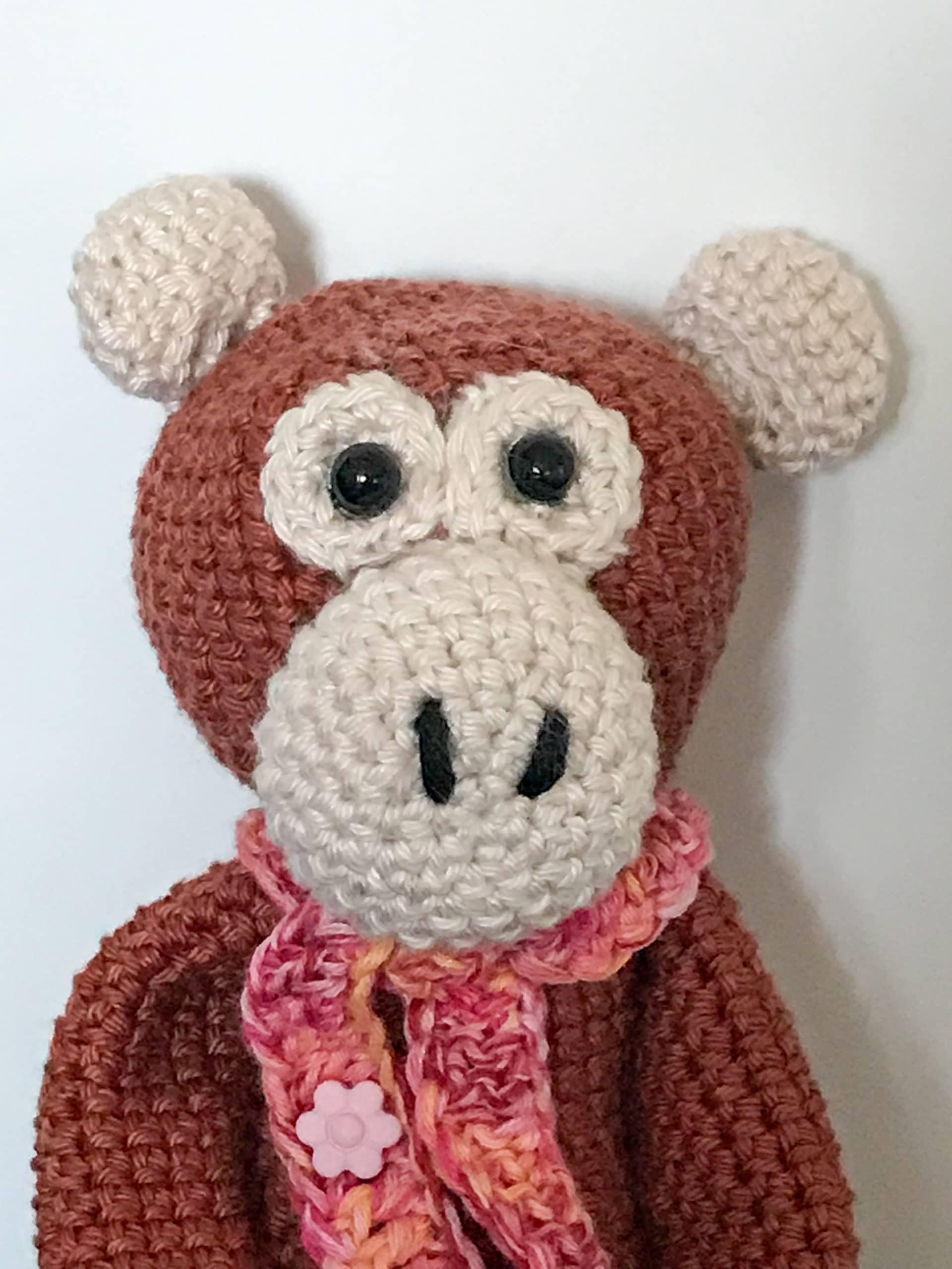 doudou singe crochet laine tricot aiguilles crochet bienveillancefab