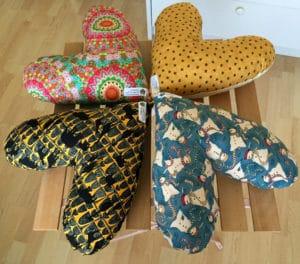 coussins coeur cancer femme tissu couture