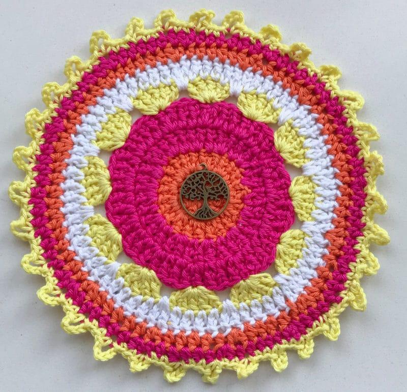 Mandala napperon crochet fil bienveillancefab