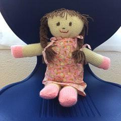 Poupee Paloma tricot laine doudou crochet