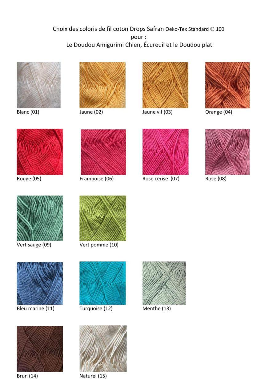 Boutique création suisse crochet choix des fil coton éco friendly pour doudou amigurimi au crochet swiss made unique à personnaliser