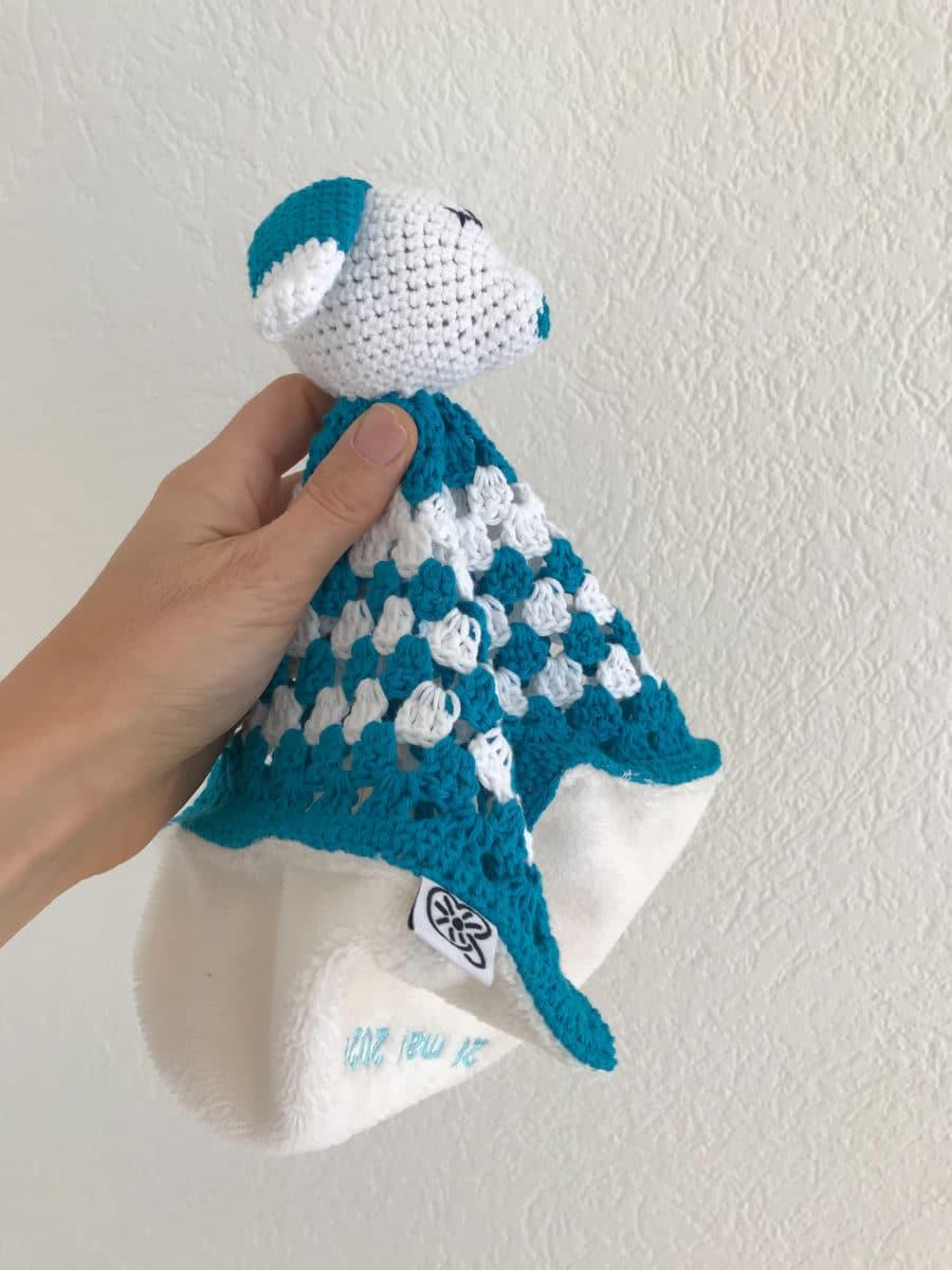 amigurumi doudou personnalisé au crochet fait main | Boutique création suisse