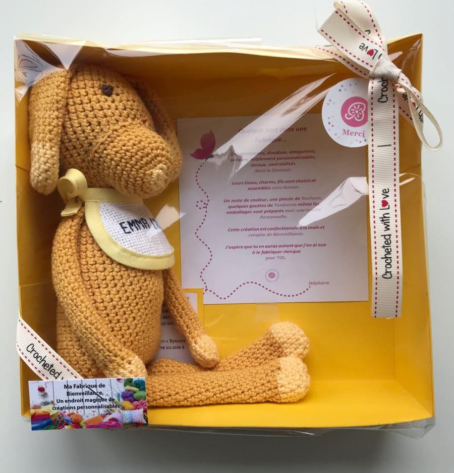 boutique création suisse crochet doudou amigurimi personnalisé au crochet fait main unique