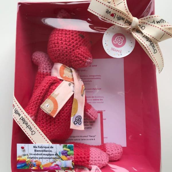 boutique création suisse crochet doudou personnalisé au crochet fait main unique