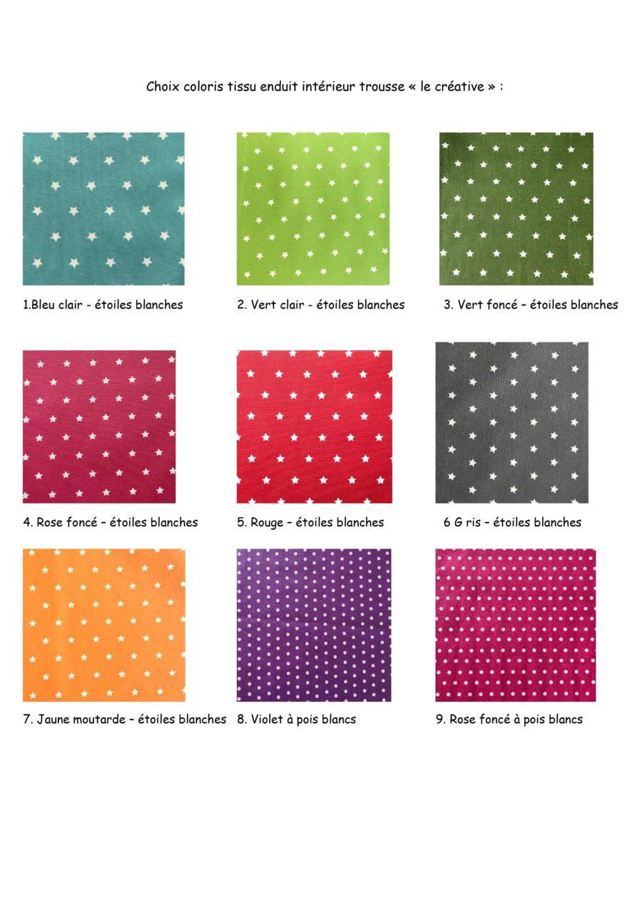 Choix coloris tissus enduit éco friendly