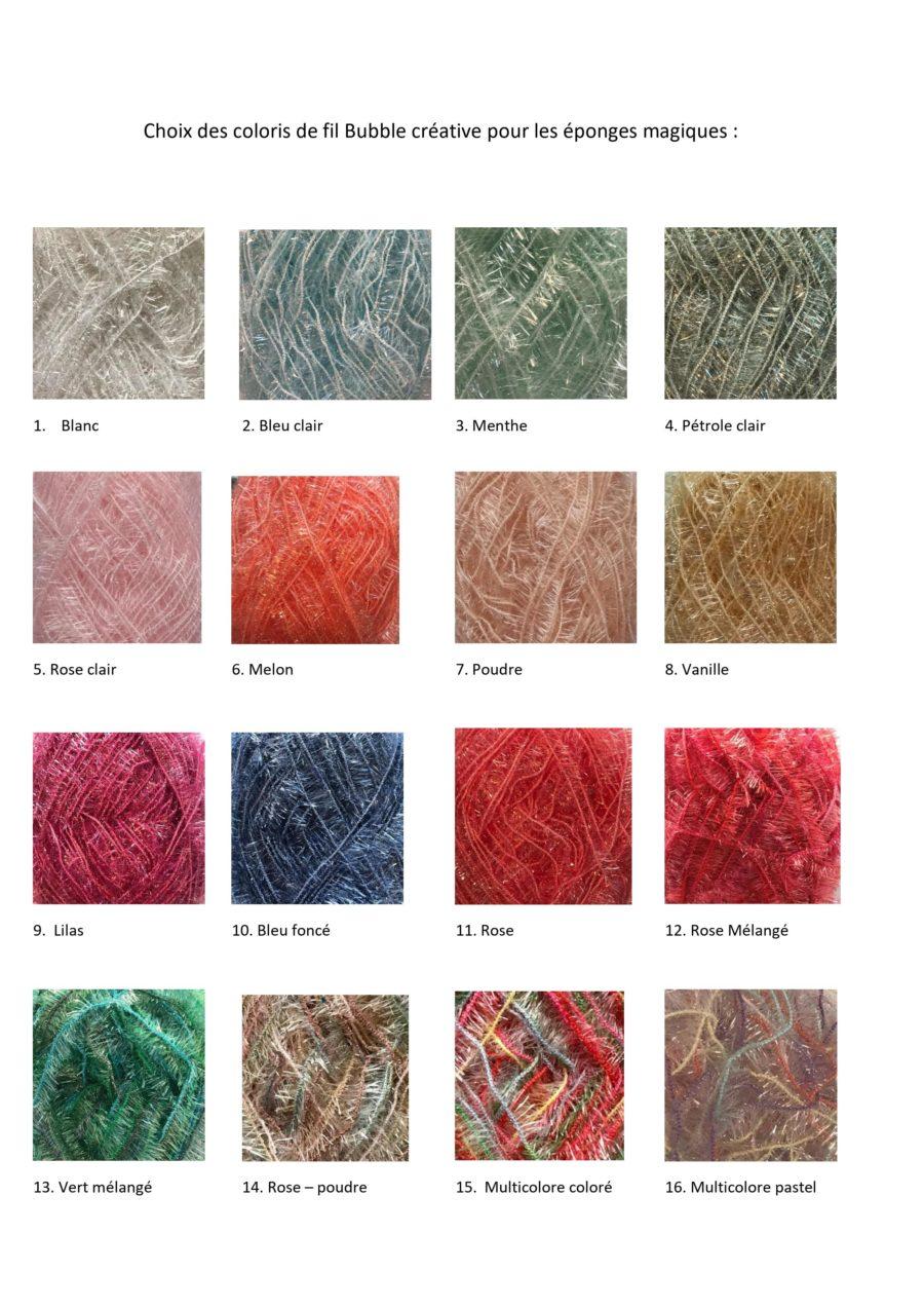 Boutique création crochet suisse, Couleur éponge crochet magiques pour la vaisselle