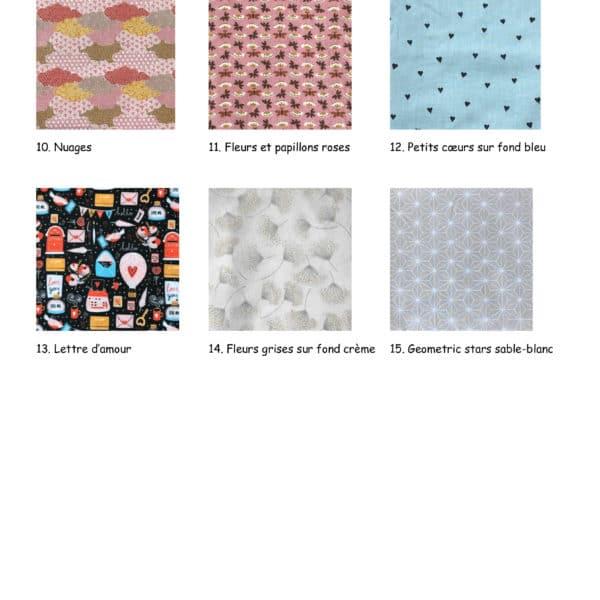 Boutique suisse creation couture trousse choix des tissus interieur