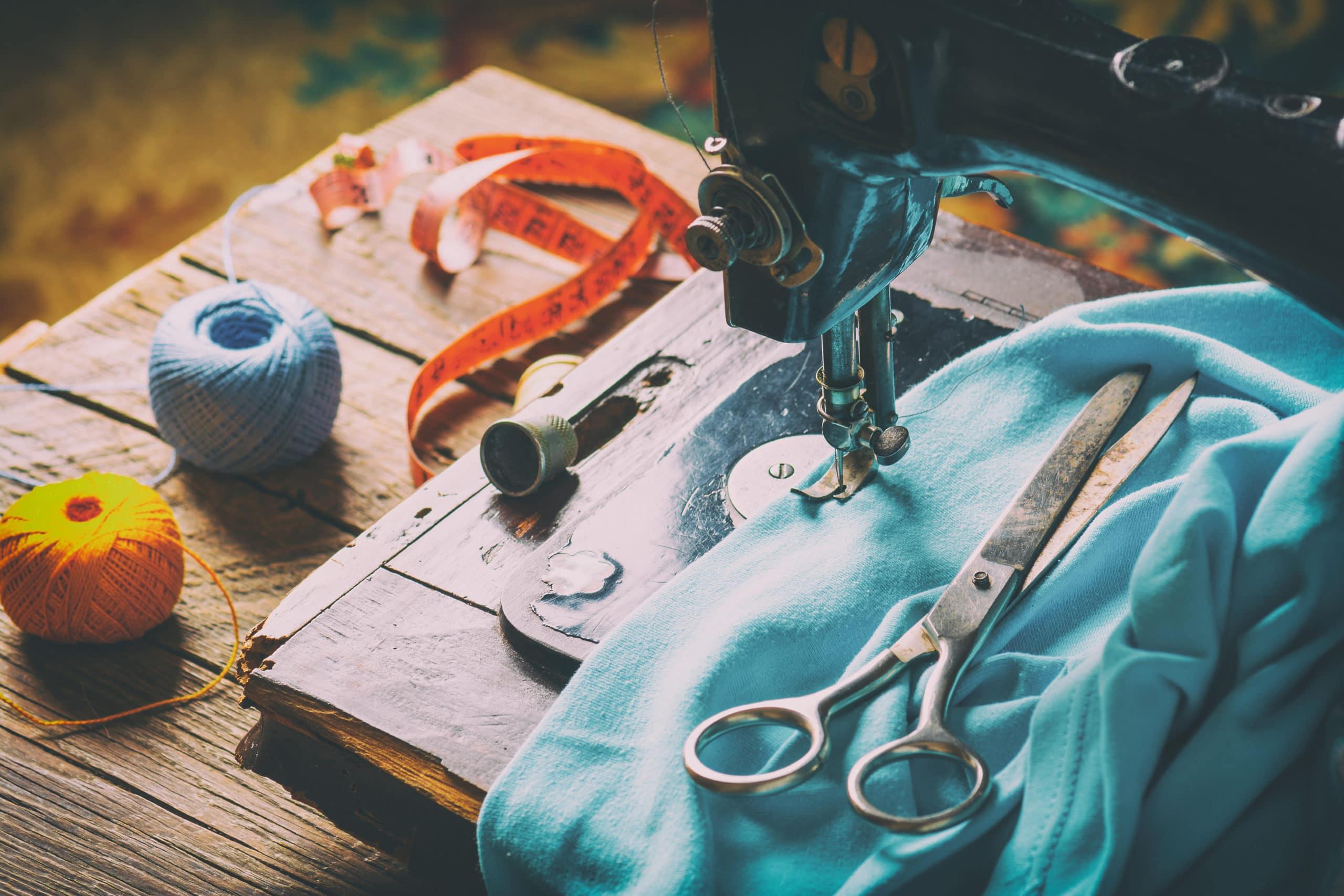 Différents accessoires pour cours de couture